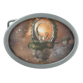 Moonland in the universe belt buckle