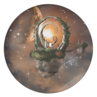 Moonland in the universe party plate