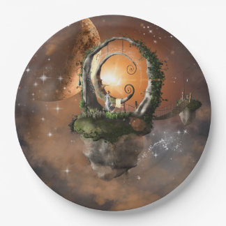 Moonland in the universe 9 inch paper plate