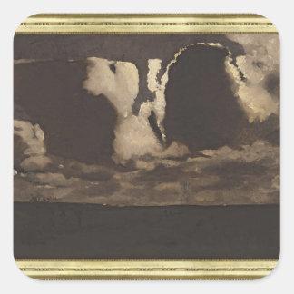 Moonlight, 1887 square sticker