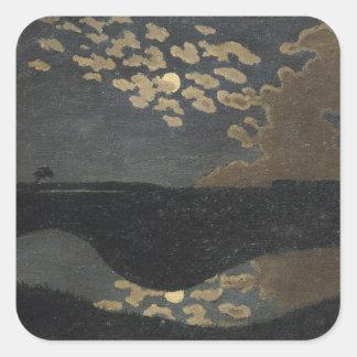 Moonlight, 1894 square sticker