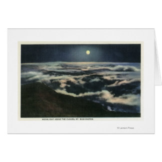 Moonlight Above the Clouds on Mount Washington Card