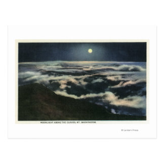 Moonlight Above the Clouds on Mount Washington Postcard