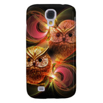 Moonlight and Owls, Artistic Samsung Galaxy S4 Cover