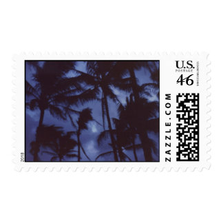Moonlight and Palm Trees Postage