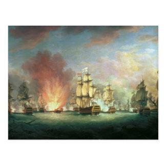 Moonlight Battle: The Battle off Cape St Postcard