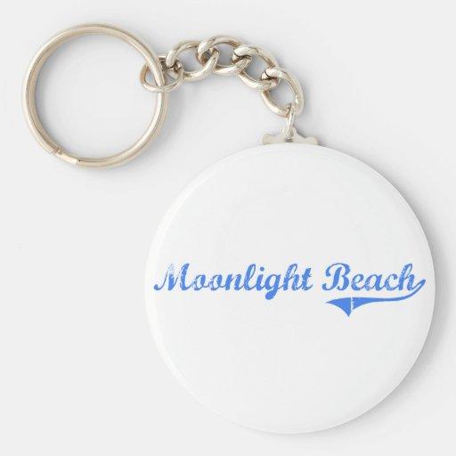 Moonlight Beach California Classic Design Key Chain