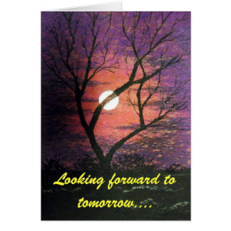 Moonlight Birthday card