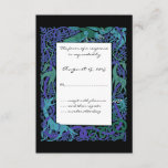 Moonlight Blue Celtic Animals Design Wedding RSVP
