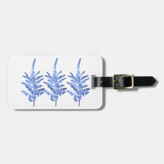 Moonlight Blue Lily Lillies Luggage Tag