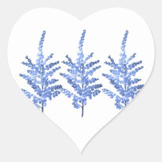 Moonlight Blue Lily Lillies Heart Sticker
