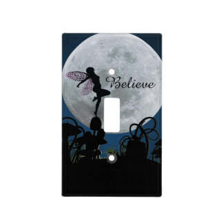 Moonlight dance believe fairy light switch cover