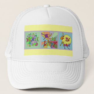 moonlight dance trucker hat