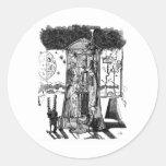 Moonlight Design Classic Round Sticker