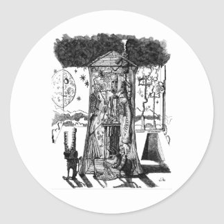 Moonlight Design Round Sticker