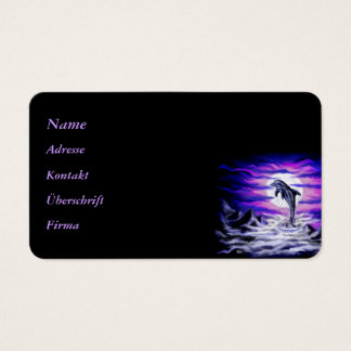 Moonlight Dolphin Business Card