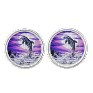 Moonlight Dolphin Cufflinks