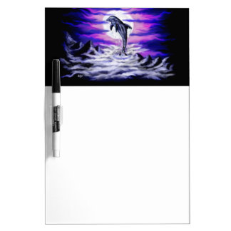Moonlight Dolphin Dry-Erase Board