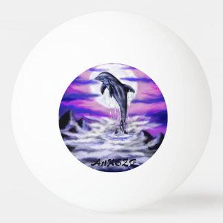 Moonlight Dolphin Ping Pong Ball