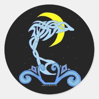 Moonlight Dolphin Stickers