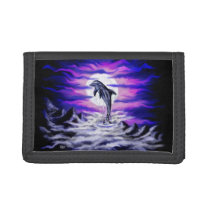Moonlight Dolphin Trifold Wallet