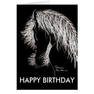 moonlight equine, HAPPY BIRTHDAY Greeting Card