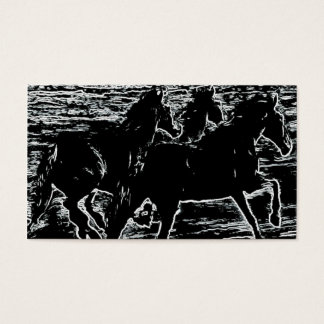 moonlight equines business card