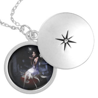 Moonlight Fairy Silver Plated Necklace