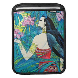 Moonlight Forest Hao Ping oriental abstract lady Sleeves For iPads