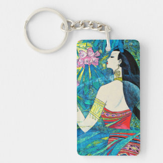 Moonlight Forest Hao Ping oriental abstract lady Keychain