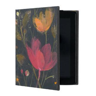 Moonlight Garden on Black iPad Cover