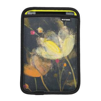 Moonlight Garden on Black iPad Mini Sleeve