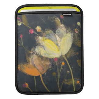 Moonlight Garden on Black Sleeve For iPads