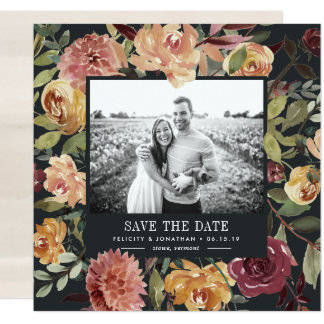 Moonlight Garden Photo Save the Date Card