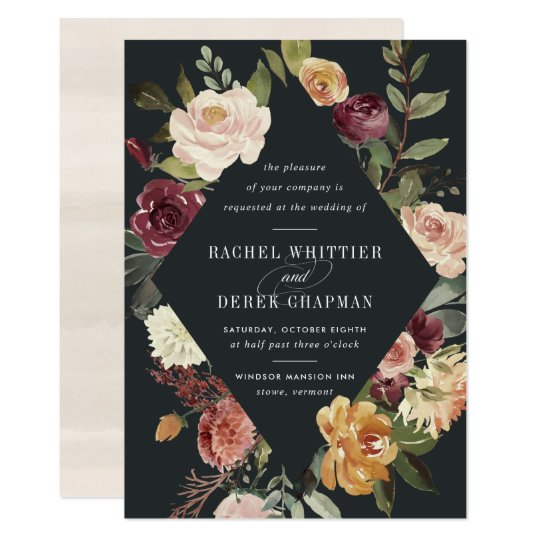Garden Wedding Invitation Ideas: Moonlight Garden Wedding Invitation