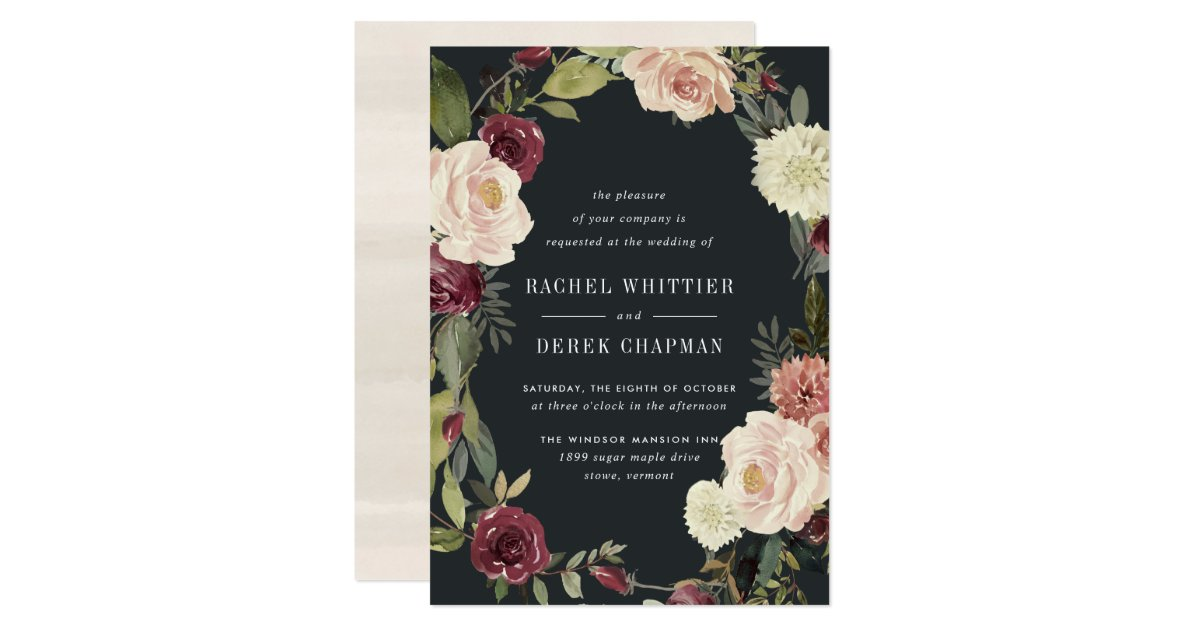 Garden Wedding Invitations: Moonlight Garden Wedding Invitation