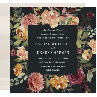 Moonlight Garden Wedding Invitation | Square
