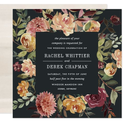 Moonlight Garden Wedding Invitation Square