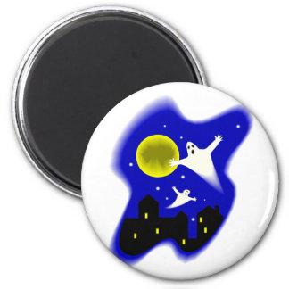 Moonlight Ghosts 2 Inch Round Magnet