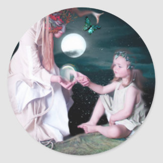 MOONLIGHT GIFTING CLASSIC ROUND STICKER