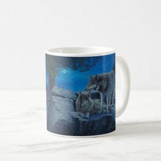 """Moonlight Glow"" Wolves - Coffee Mug"