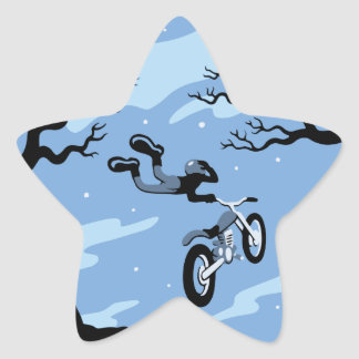 Moonlight Hangin' Star Sticker