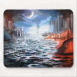 Moonlight Harbor Mouse Pad
