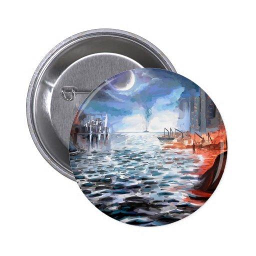 Moonlight Harbor Pin