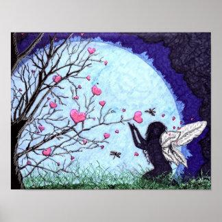 moonlight hearts poster