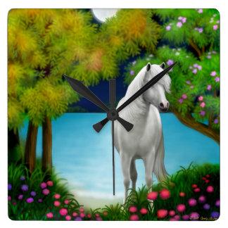 Moonlight Horse Wall Clock