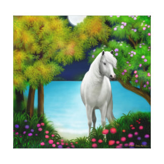 Moonlight Horse Wrapped Canvas
