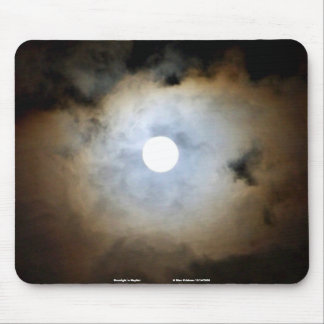 Moonlight in Mayfair. Nature's Clouds and lights Mouse Pad