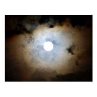 Moonlight in Mayfair. Nature's Clouds and lights Postcard