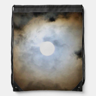 Moonlight in Philly, Nature's Clouds and lights Drawstring Bag